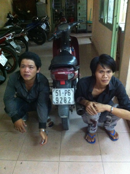 trung uy csgt dung cam san cuop hinh anh 1
