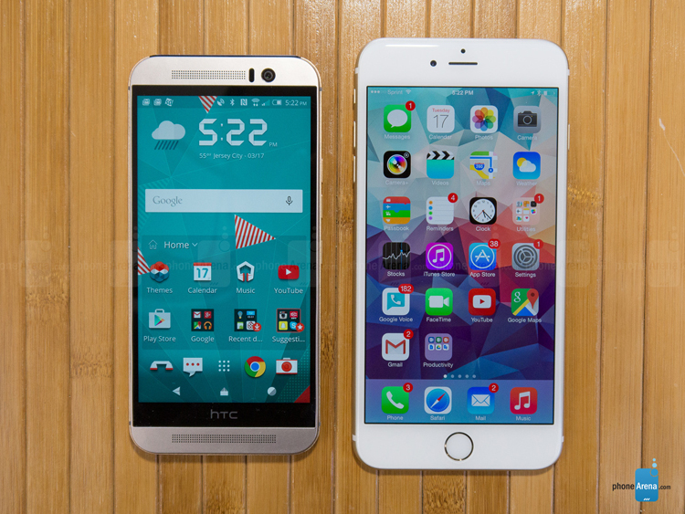 iphone 6 plus do dang htc one m9 hinh anh 1