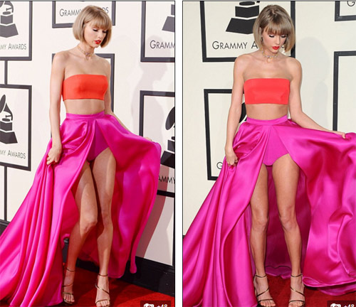 taylor swift tung vay khoe noi y tren tham do grammy hinh anh 3