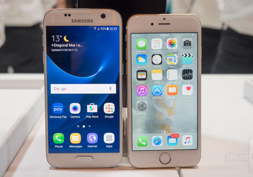 so sanh samsung galaxy s7 va iphone 6s: can tai, can suc hinh anh 1