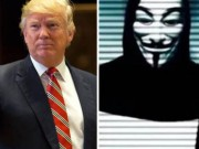 Nhom hacker lung danh Anonymous tuyen chien voi Donald Trump