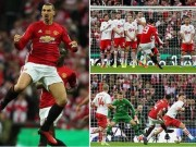 The thao - Clip Ibrahimovic lap cu dup, M.U vo dich League Cup