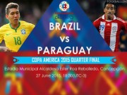 The thao - Link xem truc tiep Brazil vs Paraguay
