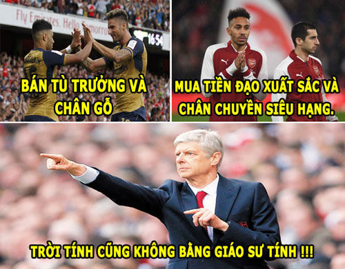 """anh che hom nay (6.2): wenger """"lua dao"""", conte bi hoc tro """"phan"""" hinh anh 2"""