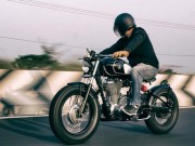 Royal Enfield Classic 500 do phong cach bobber den tu an do