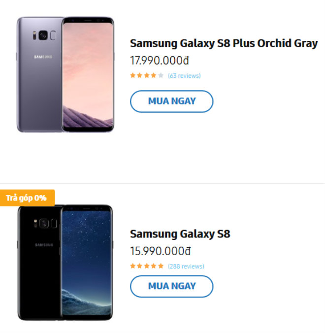 nong: samsung galaxy s8, s8+ giam soc 2,5 trieu dong hinh anh 2