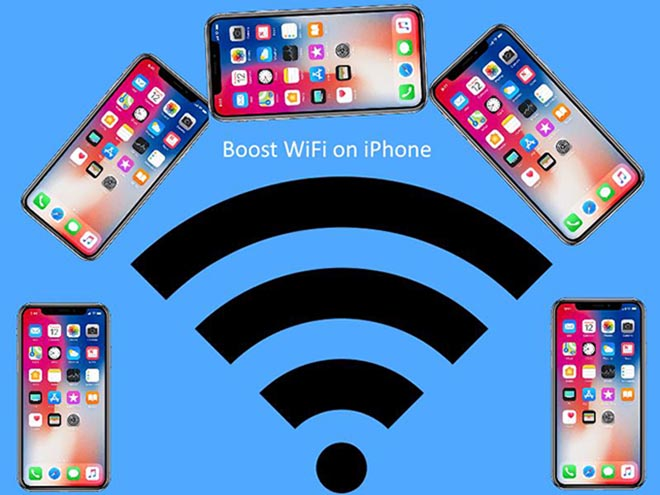 cach tang toc do mang wi-fi tren iphone chay ios 11 hinh anh 1