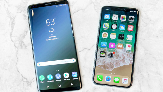 galaxy s9 soan ngoi iphone x, tro thanh smartphone co man hinh dep nhat hinh anh 1