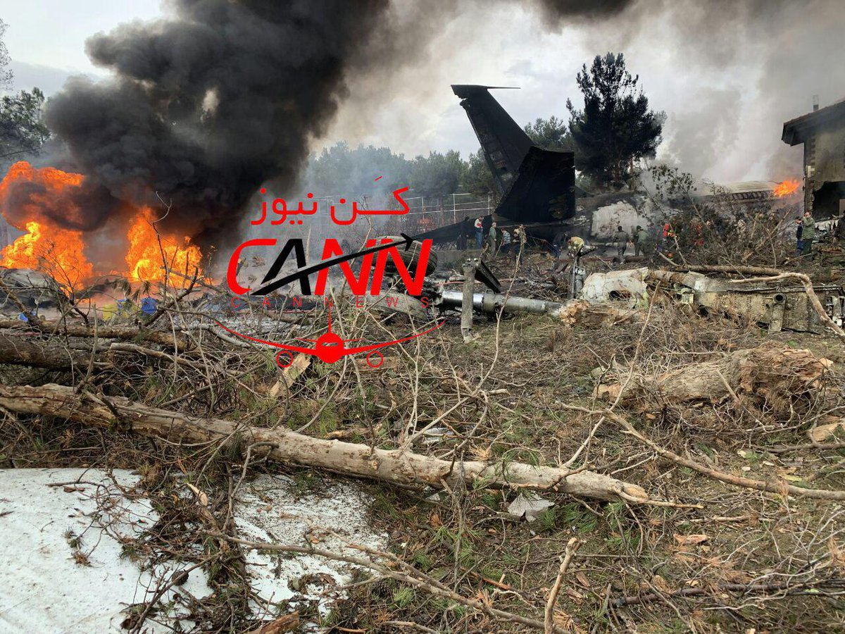 breaking new: may bay boeing 707 gap nan gan thu do iran hinh anh 1