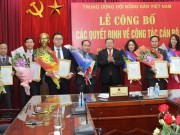 Trung uong Hoi NDVN: Cong bo cac quyet dinh ve cong tac can bo