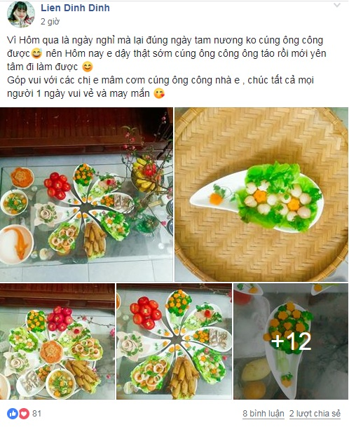 chi em khoe hang loat mam co cung ong tao ve troi hinh anh 2