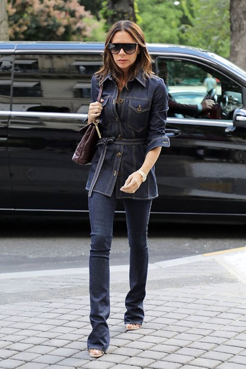 5 cach dien jeans sang trong cua victoria beckham hinh anh 6