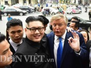 "Video - anh - ""ong Donald Trump, Kim Jong-un"" bat ngo di dao tren pho Ha Noi"