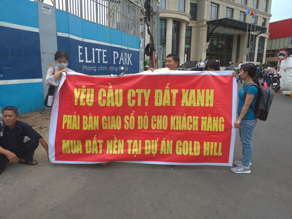 khach hang keo den tru so dat xanh group doi so do du an gold hill hinh anh 1