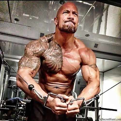 """nguoi hung"" the rock an 5 kg thit/ngay, deo xich sat de co than hinh khung long hinh anh 7"