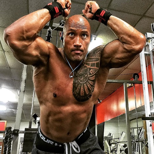 """nguoi hung"" the rock an 5 kg thit/ngay, deo xich sat de co than hinh khung long hinh anh 10"