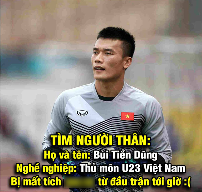 """anh che man the hien """"mo nhat"""" cua bui tien dung truoc u23 brunei hinh anh 2"""