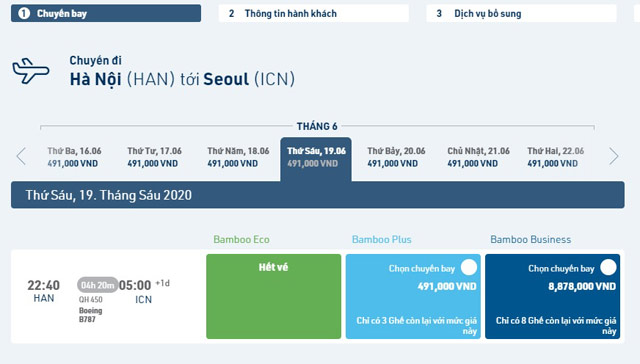 bay thang ha noi – incheon (han quoc) tu 491.000 vnd voi bamboo airways hinh anh 1