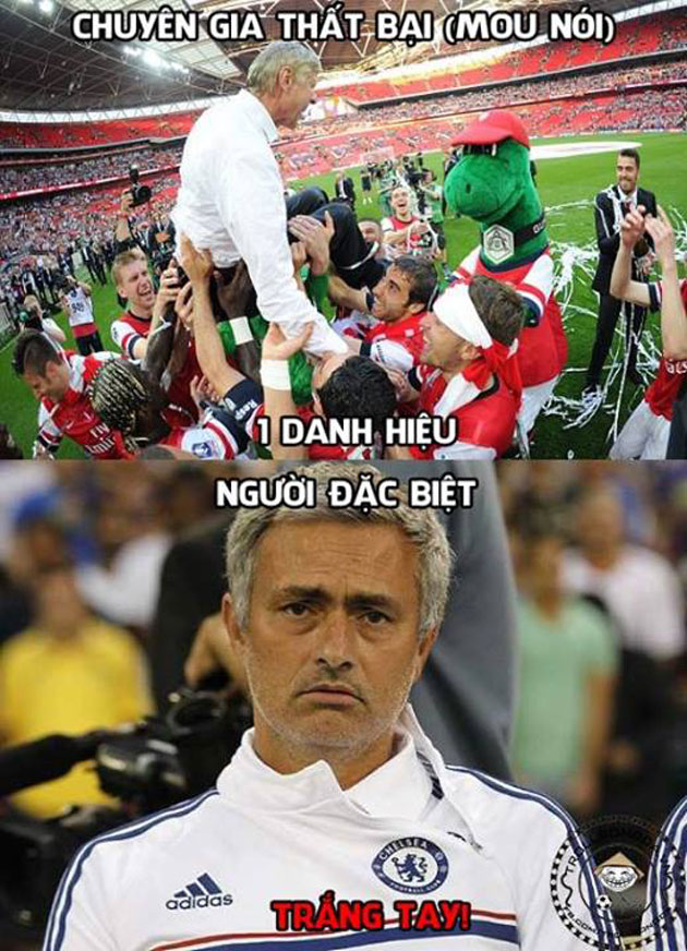 anh che: mourinho e che khi hay tin arsenal vo dich fa cup hinh anh 1