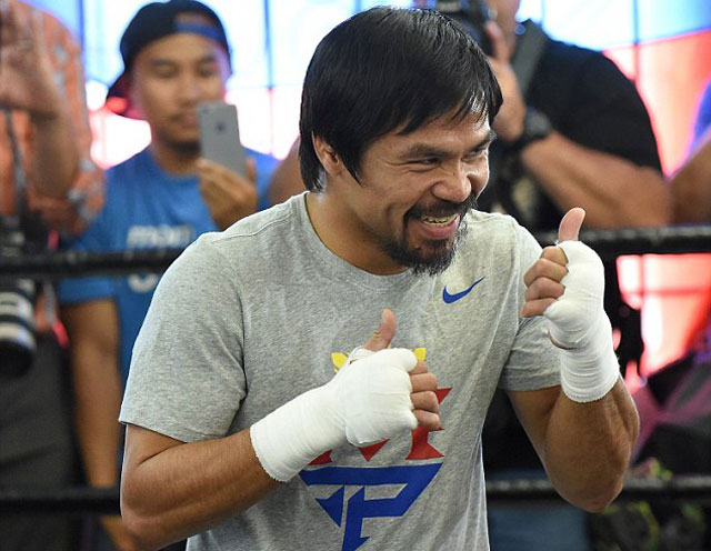 "pacquiao ""day"" mayweather cach... dung tien hinh anh 2"
