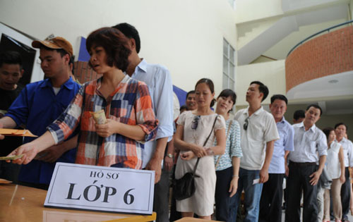 muot mo hoi mua ho so cho con vao lop 6 o ha noi hinh anh 1