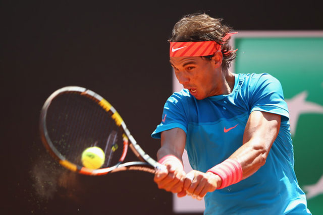 rome masters: nadal thang tuyet doi, federer nhoc nhan vao vong 3 hinh anh 1
