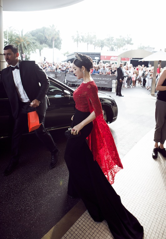 "ly nha ky dien vay ""trong suot"" tren tham do cannes hinh anh 13"