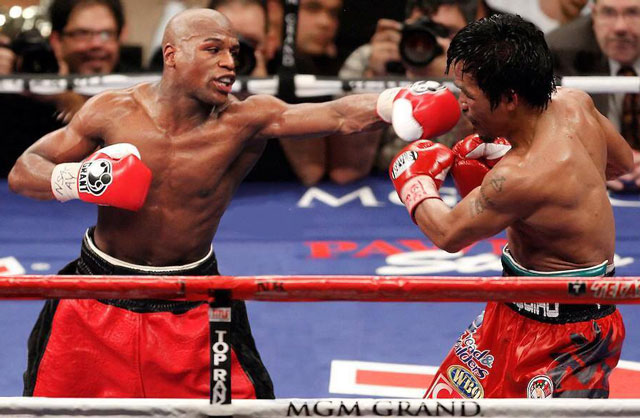 """tran dau the ky"" mayweather - pacquiao lai gay soc hinh anh 1"
