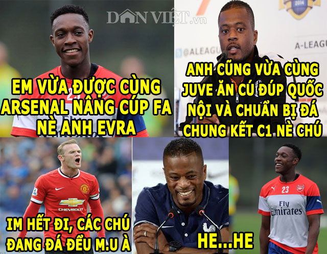 "anh che: ""nguoi cu"" m.u khoe chien tich, ""thanh"" bendtner qua tai hinh anh 1"