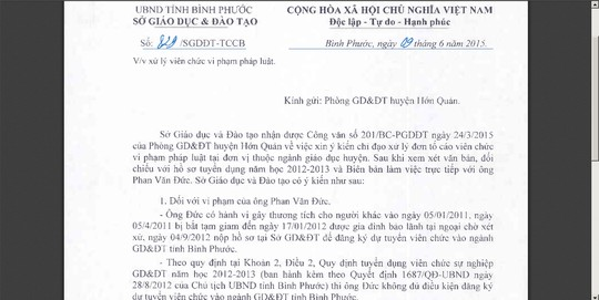 "buoc thoi viec giao vien dinh an ""giet nguoi"" hinh anh 1"