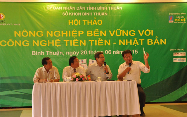 "hoi thao ""nong nghiep ben vung voi cong nghe tien tien nhat ban"" hinh anh 1"