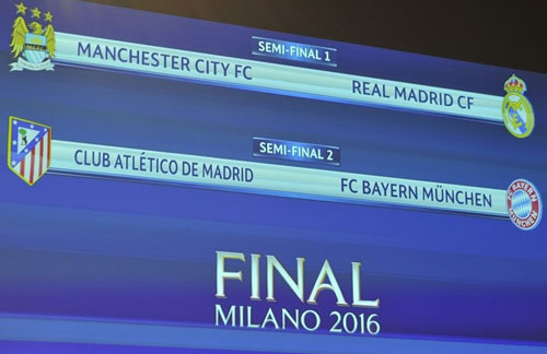 ket qua boc tham champions league: man city vs real, atletico vs bayern hinh anh 1