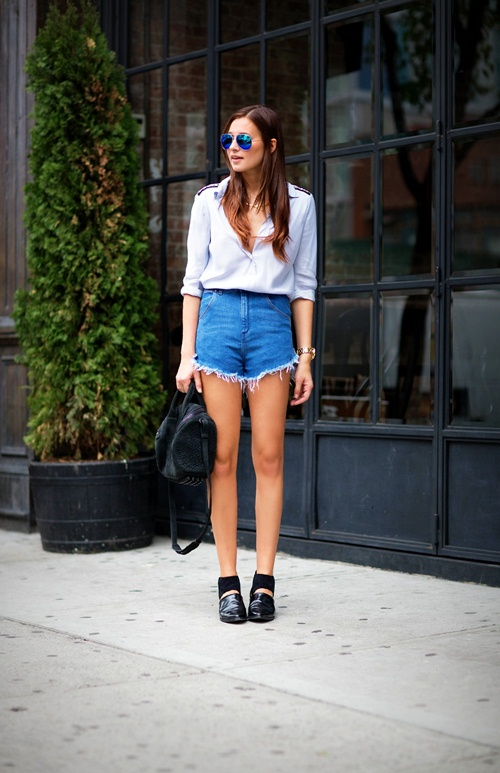 muon sexy, hay hoc cach chinh phuc short jeans! hinh anh 7