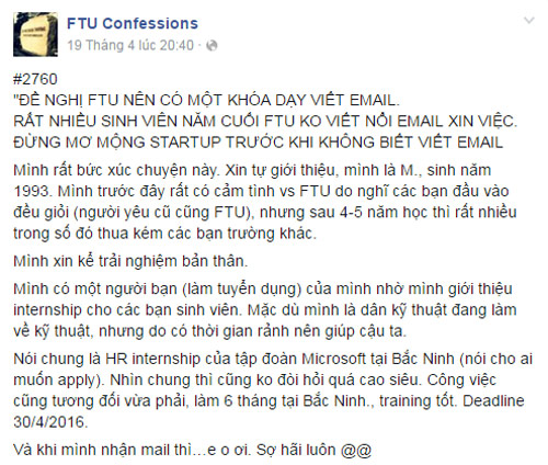 "tam thu ""nen day sv ngoai thuong viet email"" gay ""bao"" hinh anh 1"