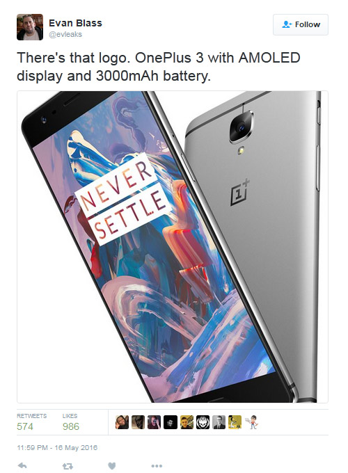 """""""sat thu cua smartphone"""" oneplus 3 lo anh bao chi hinh anh 1"""