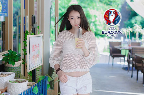 hot girl trung quoc ung ho dt phap vo dich euro 2016 hinh anh 10