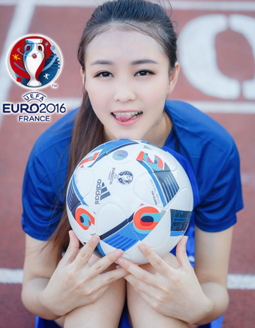 hot girl trung quoc ung ho dt phap vo dich euro 2016 hinh anh 4