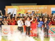"The thao - Vo dich U19 quoc te 2017, U19 Viet Nam ""ngap trong tien thuong"""