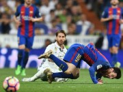 "Clip Ramos ""triet ha"" Messi, nhan the do truc tiep"