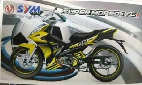 xe tay con sym super moped 175i se co gia tu 38,7 trieu dong hinh anh 1