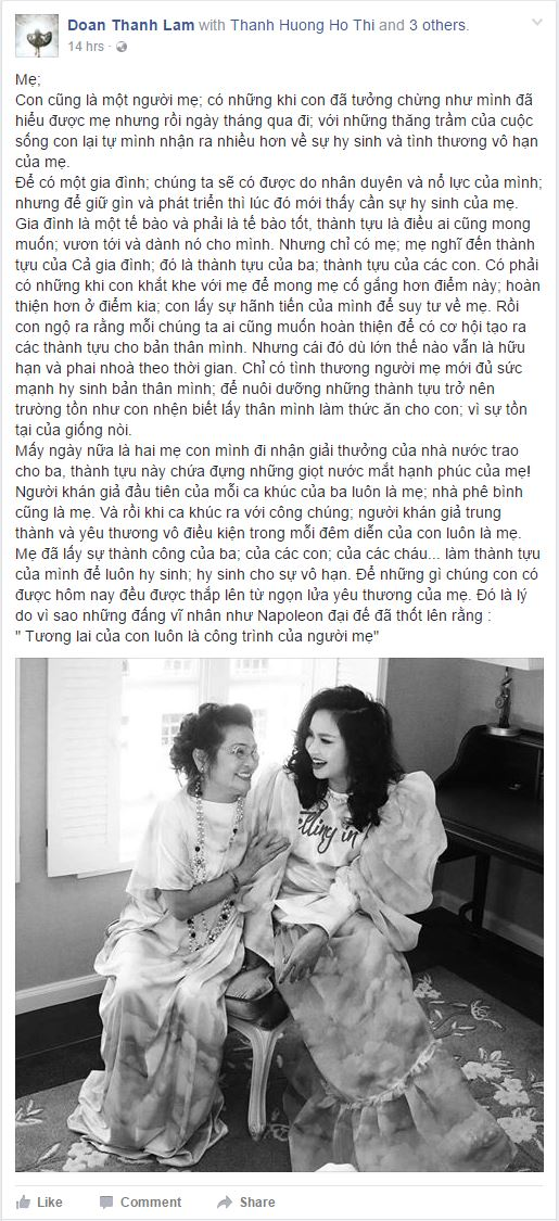 """rot nuoc mat voi tam su cua my linh, thanh lam trong """"ngay cua me"""" hinh anh 1"""