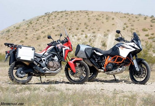 lua chon ktm 1090 adventure r hay honda crf1000l africa twin? hinh anh 1