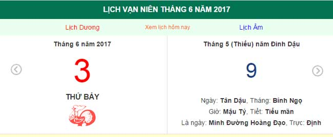 ngay am lich hom nay: ngay 3.6.2017 duong lich hinh anh 1