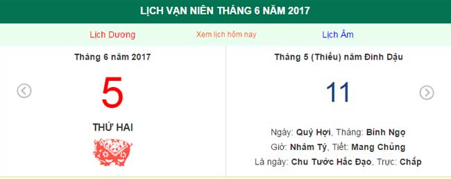 ngay am lich hom nay: ngay 5.6.2017 duong lich hinh anh 1