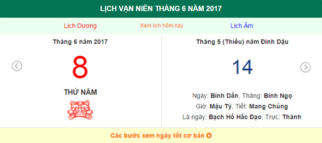 ngay am lich hom nay: ngay 8.6.2017 duong lich hinh anh 1