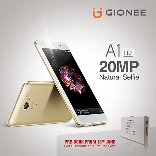 gionee a1 lite co camera selfie 20mp, gia chi 6 trieu dong hinh anh 1