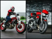 o to - Xe may - Chon mua Ducati Monster 797 hay Triumph Street Triple S?