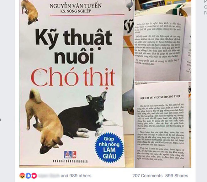 "tranh cai ""nay lua"" ve cuon sach ""ky thuat nuoi cho thit"" hinh anh 2"