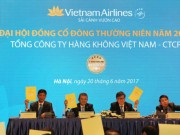 Doanh nghiep - dai hoi dong co dong thuong nien nam 2017 cua Vietnam Airlines: Tiep tuc khang dinh su phat trien on dinh va ben vung