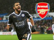 "The thao - Chi 50 trieu bang, Arsenal ""cuom"" Mahrez tu Leicester City"
